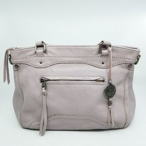 The Sak Lavender Leather Satchel